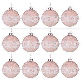 """Декоративное изделие """"шар кружево"""" диаметр=8 см-862-235 (Товар продается кратно 12шт)"""