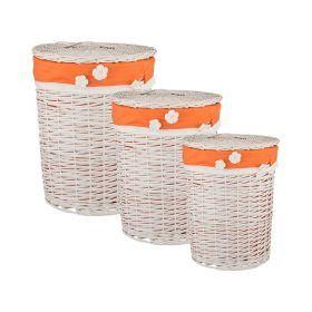 Набор корзин для белья из 3-х шт l: ф45*55/m:ф37*45/s:ф31*36 см.-190-155