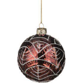 Декоративное изделие шар стеклянный диаметр=8 см. высота=9 см. цвет: коричневый-862-101