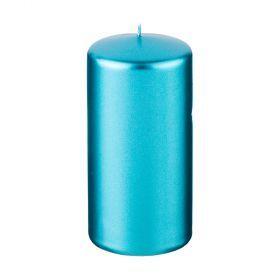 Свеча 12/5,8 см. металлик лазурный-348-610