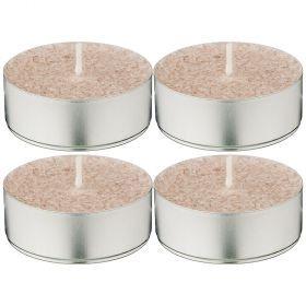 Набор ароматических стеариновых свечей из 4 шт. indian silk диметр 6 см высота 2 см-348-770