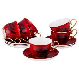 Чайный набор на 6 персон 12 пр. 270 мл.-275-925