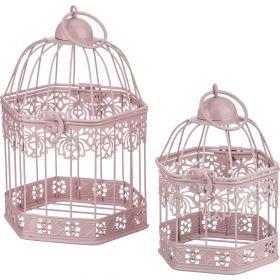 Набор клеток для птиц декоративных из 2-х шт. l:16*14*24,s:12*11*18 см-123-141