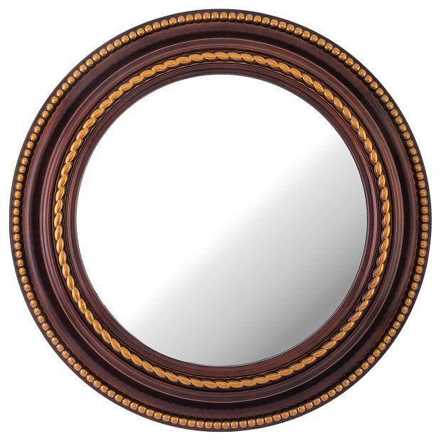"Зеркало настенное ""lovely home"" диаметр=52 см цвет: кофейный (кор=4шт.)-220-416"