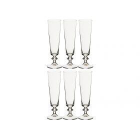 Набор бокалов для шампанского из 6 шт.бэлла 205 мл.высота=20 см.