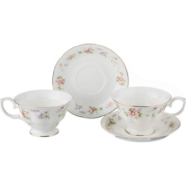 """Чайный набор на 2 персоны """"екатерина"""" 4пр. 200 мл.-54-381"""