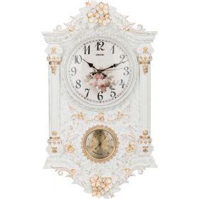 Часы настенные кварцевые с термометром 38*11,5*65 см. диаметр циферблата=24 см.-204-147