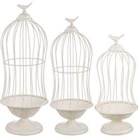 Набор клеток для птиц декоративных на подставке из 3-х шт.l:24,5*24,5*67,m:18,5*18,5*48s:13,5*13,5*3-123-178
