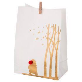 Комплект пакетиков для подарков с прищепкой из 24 шт. 14*20 см (кор=16 комп.)-845-107