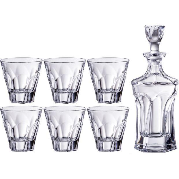 """Набор для виски """"аполло"""" 7 пр.: штоф+6 стаканов 600/300 мл. высота=23/10 см.-669-215"""