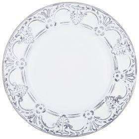 Тарелка декоративная пластиковая 33*33*2,5 см без упаковки-505-072