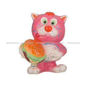 Копилка кот с гамбургером 20*12*25 см. без упаковки