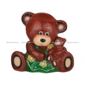 Копилка медведица пэдди-мама глянец 28*18*30 см. без упаковки