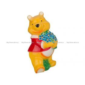 Копилка медведь с цветами 14*12*27 см. без упаковки