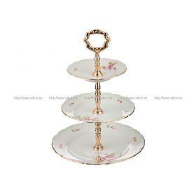 Фруктовница трехъярусная офелиядиаметр=25/19/15 см.высота=33 см.