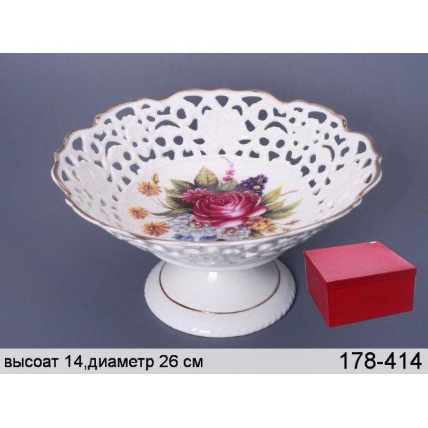 """Фруктовница """"букет роз"""" диаметр=26 см.высота=13 см.-178-414"""