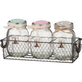 Набор шкатулок из 3-х шт. для швейных мелочей с подушечками для иголок 30*10*14 см. (кор=12 шт.)-222-079