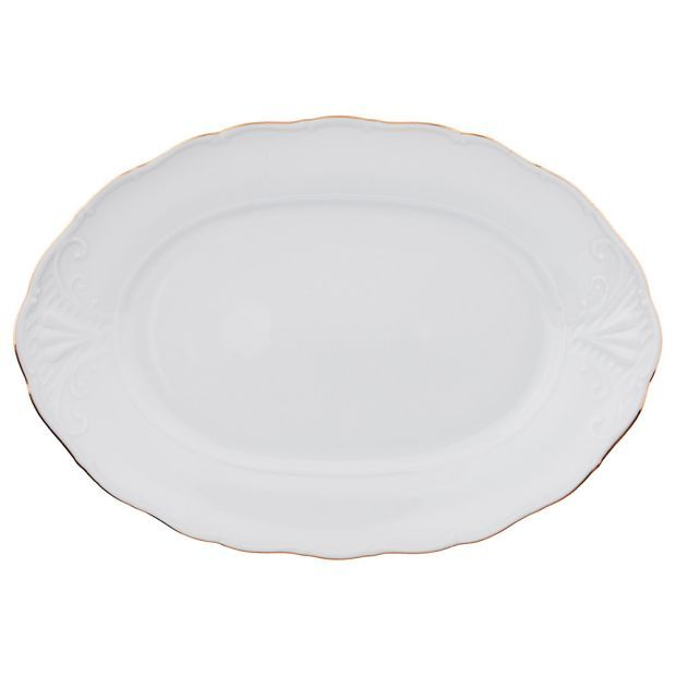 """Блюдо овальное 32*22 см.""""лиана 003"""" без упаковки-655-316-4"""