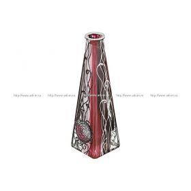 Ваза декоративная абстракция бордо высота=28 см.