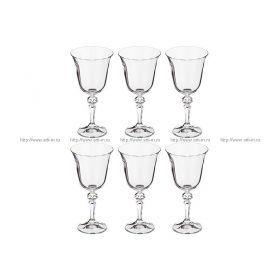 Набор бокалов для вина из 6 шт.лаура 220 мл.высота=18 см.
