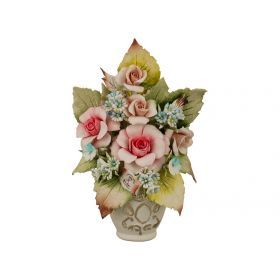 Декоративная ваза с розами 6*13*19 см.