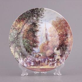 Тарелка декоративная русские пейзажи диаметр=20 см.