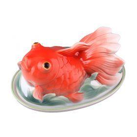 Блюдо для холодца/заливного красная рыбка длина=19 см.