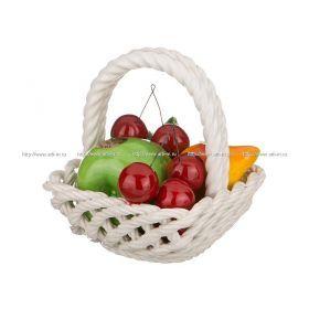 Изделие декоративное корзина с фруктами высота=14 см.13*13 см.