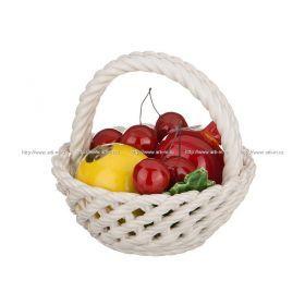 Изделие декоративное корзина с фруктами высота=14 см.диаметр=14 см.