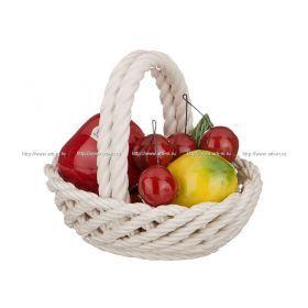 Изделие декоративное корзина с фруктами высота=14 см.16*12 см.