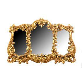 Зеркало из 3 шт.в рамке из полистоуна 30*22/25*12/25*12 см.рамка65*45 см.-769-009