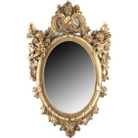 Зеркало в рамке из полистоуна 36*25/65*40 см.(кор=2шт.)-791-022