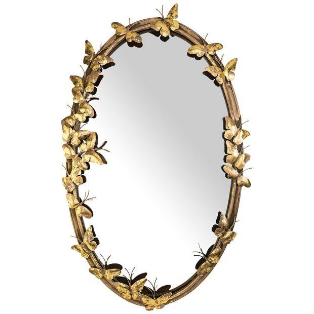 "Зеркало настенное ""бабочки"" 69*5*107 см (кор=1шт.)-874-112"