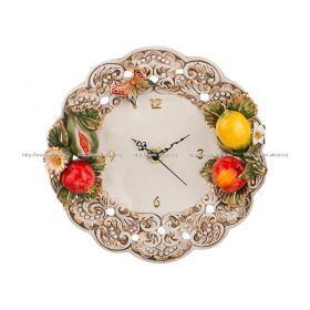 Часы фрукты диаметр=31 см.