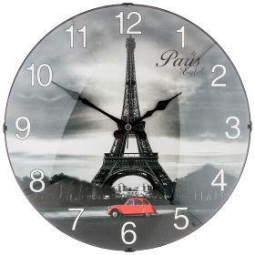 Часы настенные кварцевые диаметр 35,5 см диаметр циферблата 34,5 см (кор=10шт.)-207-328