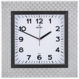 Часы настенные кварцевые  30,5*30,5 см размер циферблата 20*20 см (кор=20шт.)-207-343