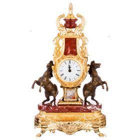 Часы настольные (кварцевые) высота=52 см.диаметр циферблата=10 см.-292-028