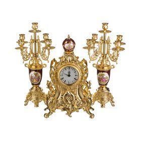 Набор:часы+2 подсвечника  циферблата=10 см.-292-015