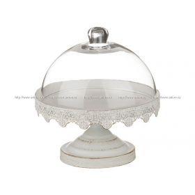Ваза для фруктов со стеклянной крышкой  диаметр=21 см.высота=22/11 см.