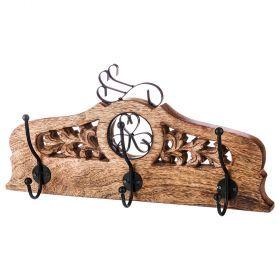 Вешалка настенная с 3-мя крючками 41*20 см без упаковки (Товар продается от 2/кор=16шт.)-723-116