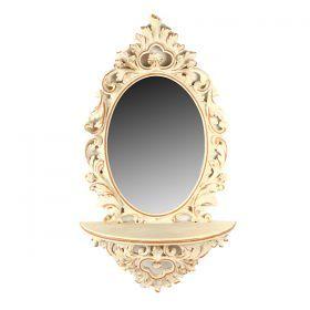 Консоль с зеркалом в рамке из полистоуна 32*23/60*36 см.-791-030