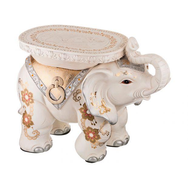 """Подставка-слон белый """"привлечение удачи и благополучия"""" длина=58 см. высота=45 см.-114-333"""