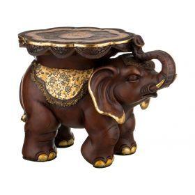 Подставка-слон фундамент материального достатка 32,5*32,5 см. высота=46 см.