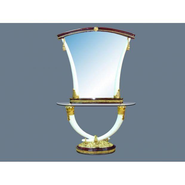 Подставка 100*34*84 см. со стеклом 120*42,5*1 см. и зеркалом 120*119*7 см.-118-065