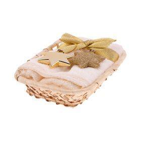 Набор полотенеце махровое в корзине