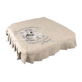 Сидушка на стул присядьте муррр…. 50*50,лен 100%