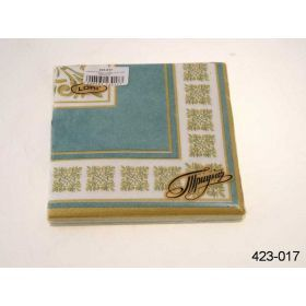 Салфетки бумажные 3-х слойные 33*33см.