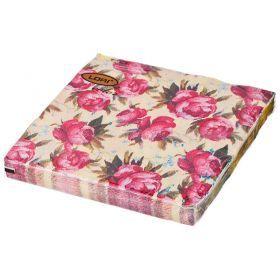 Салфетки бумажные 2-х слойные 33*33 см-423-225