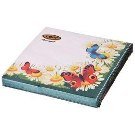 Салфетки бумажные 3-х слойные 33*33 см-423-217