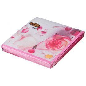 Салфетки бумажные 2-х слойные 33*33 см-423-232
